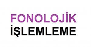 Fonolojik İşlemleme Örnekleri