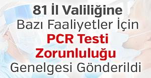 Öğretmenler İçin PCR Testi Zorunluluğu Genelgesi