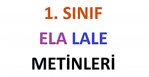 1. Sınıf Ela Lale...