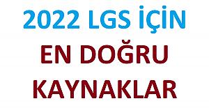 2022 LGS İÇİN EN DOĞRU KAYNAKLAR