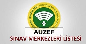 Auzef Sınav Merkezleri Listesi 2021...