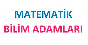 Matematik Bilim Adamları Proje Ödevi
