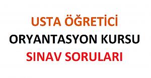Usta Öğretici Oryantasyon Eğitimi Kursu Sınav Soruları 2021 2022