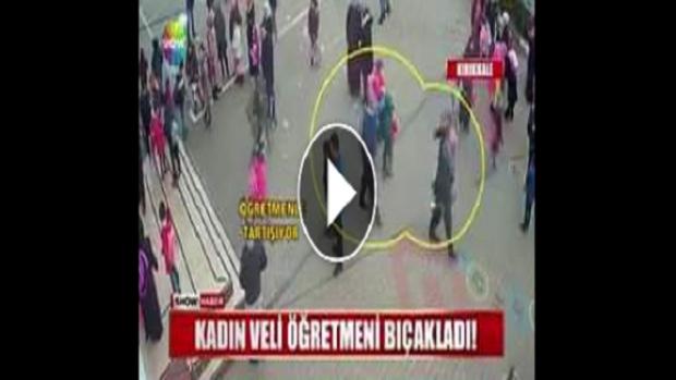 Kadın Velinin Öğretmene Bıçak Ve Falçatayla Saldırı Anları Kamerada. İşte Olaya Ait O Görüntüler